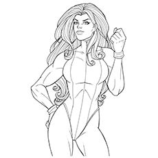 Avengers She Hulk Character Spider Woman Team Coloring Pages