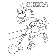 Bowling Coloring Pages - Shera Bowling