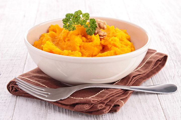 Simple Pumpkin Puree Baby Food