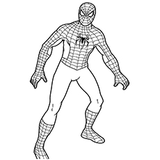 spiderman from avengers series coloring pages - Black Panther Coloring Pages