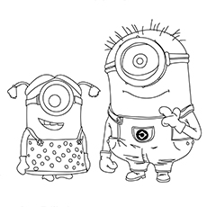 Steve is One Eyed Minion Image for Kids to Color