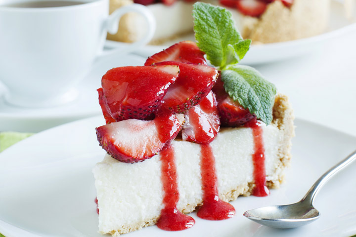 Cheesecake During Pregnancy - Strawberry Cheesecake