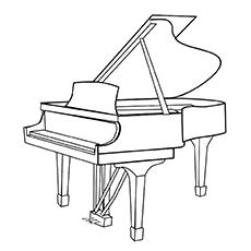 Piano Coloring Pages - Studio Piano