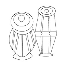 drum coloring page tabla
