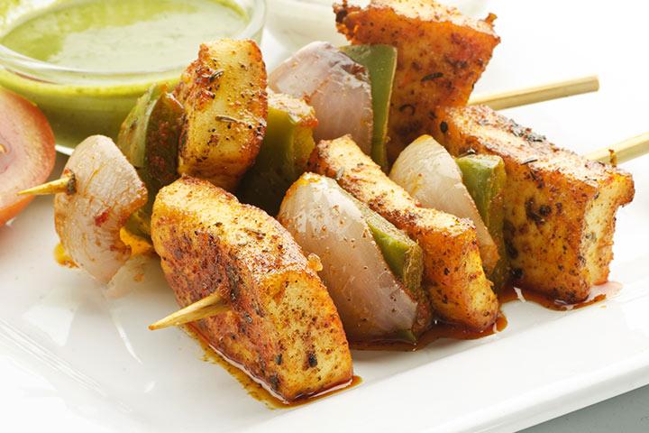 Paneer Recipes For Kids - Tandoori Paneer
