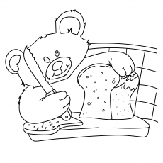 Teddy Bear With Bread