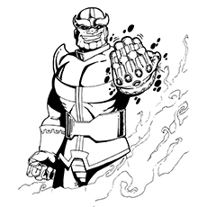 Coloring Pages Thanos Character Name from Avengers
