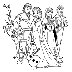 graphic regarding Free Printable Frozen Coloring Pages called 50 Eye-catching Frozen Coloring Internet pages For Your Very little Princess