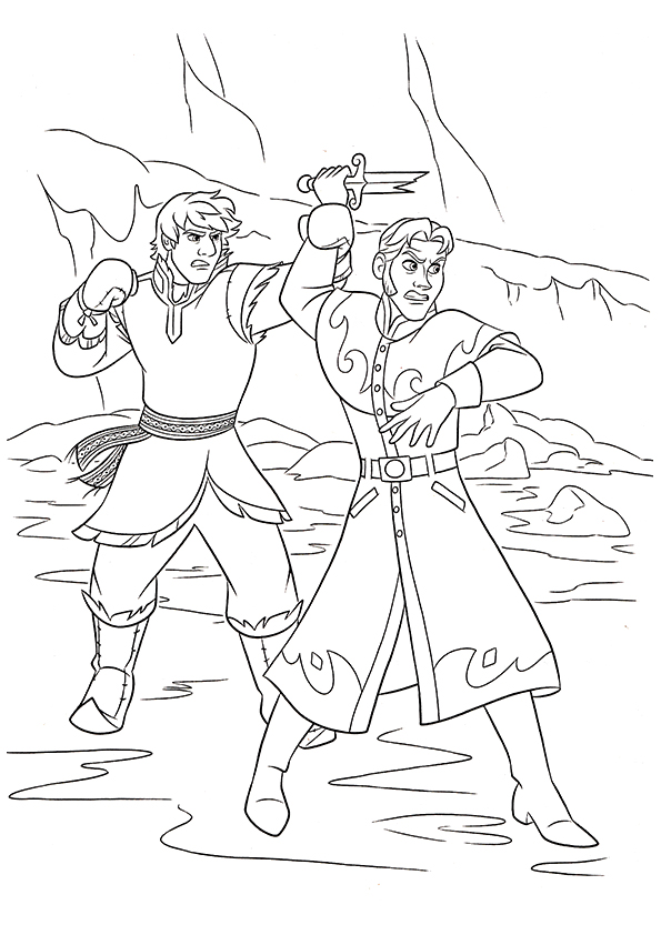 The-Fight-Between-Hans-And-Kristoff