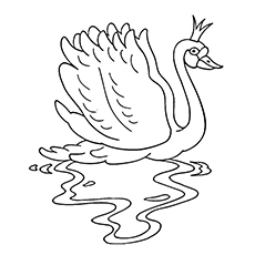 Swan Coloring Pages - The Swan Princess
