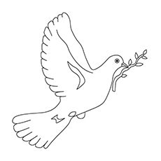 Dove Coloring Page - The Symbol Of Peace