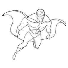 Printable Coloring Pages of The Vision Avengers Series