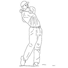 Golf Coloring Pages - Tiger Woods