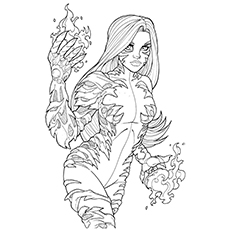 Coloring Sheet of Avengers United they Stand Tigra