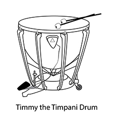 drum coloring page timmy the timpani drum
