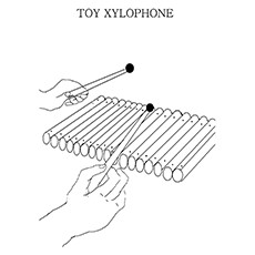 Xylophone Coloring Page - Toy Xylophone