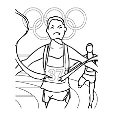 Olympic Sport Athletics Coloring Pages