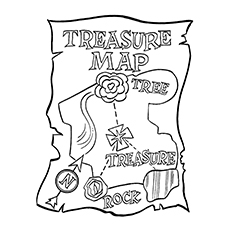 Pirate Coloring Pages - Treasure Map