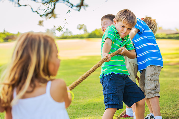 Spring Activities For Kids - Tug 'o' War