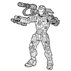 Coloring Pages Of Ultimate Avengers War Machine
