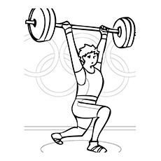 Coloring Pages of Olympic Sport Weight Lifting
