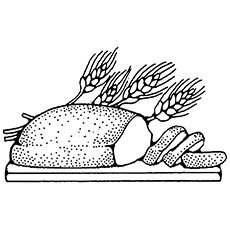 Whole Grain Bread Coloring Page