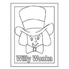 Charlie And The Chocolate Factory Coloring Pages  - Willy Wonka Face