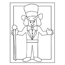 Charlie And The Chocolate Factory Coloring Pages  - Willy Wonka