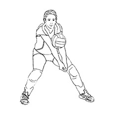 Boy Taken Center position In Volleyball Match Coloring Pages