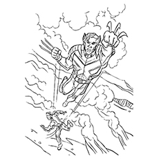 Printable Wolverine Avengers Coloring Pages
