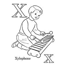 Xylophone Coloring Page - X Is For Xylophone