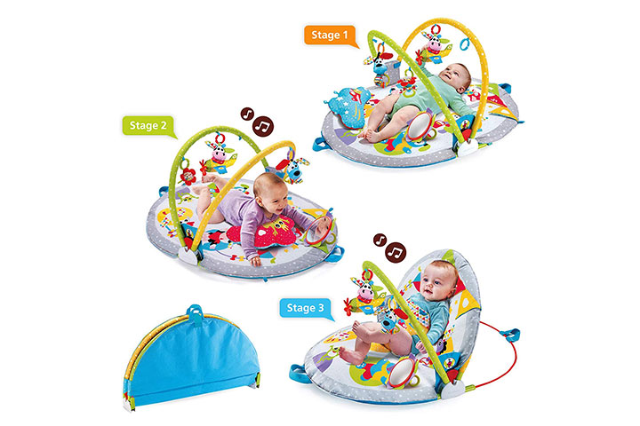 Yookidoo Baby Play Gym Lay to Sit-Up Play Mat 4143