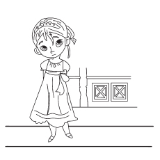 Young Elsa Picture Coloring Sheet