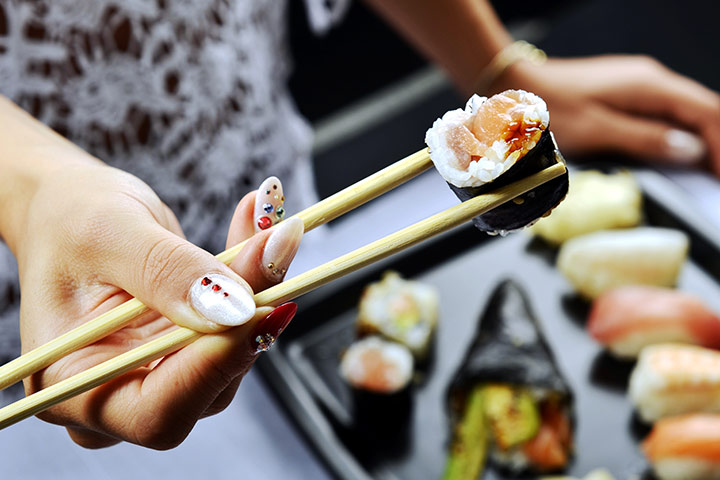 Image result for sushi eating