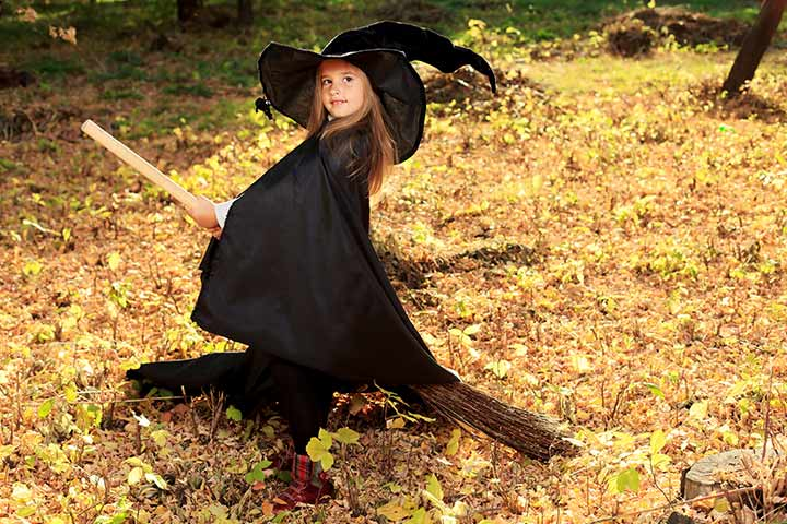 witch halloween costumes for kids pictures