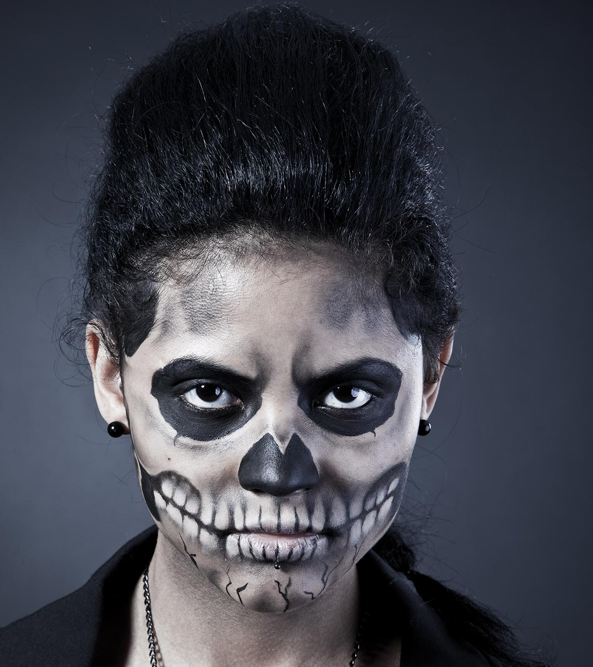 10 Simple And Scariest Halloween Face Paint Ideas For Kids