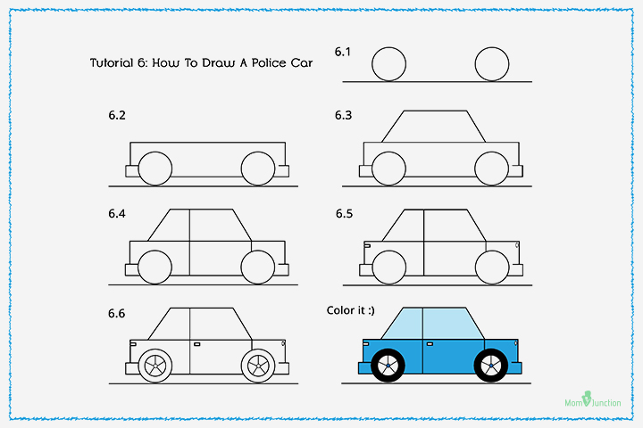 How To Draw A Police Car With Pictures