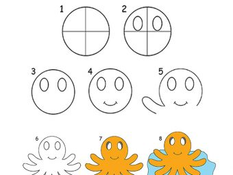 8 Step By Step Tutorial For Drawing An OctopusFor Kids