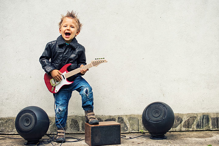 80s Rocker homemade halloween costumes for kids Pictures