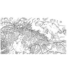 A Platypus Coloring Page