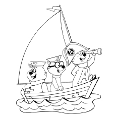 Chipmunk Coloring Pages - Alvin-And-The-Chipmunks