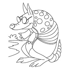 10 funny armadillo coloring pages for your little ones