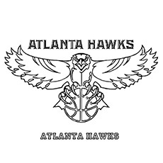 Atlanta Hawk Coloring Pages