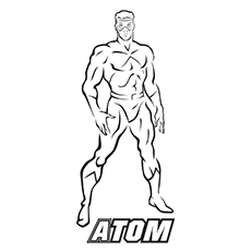Justice League Character Atom Coloring Sheet