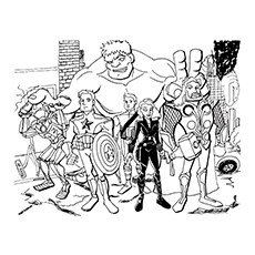 Hawkeye Coloring Pages - Avengers