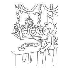 Lord Krishna Coloring Pages - Baal Leela
