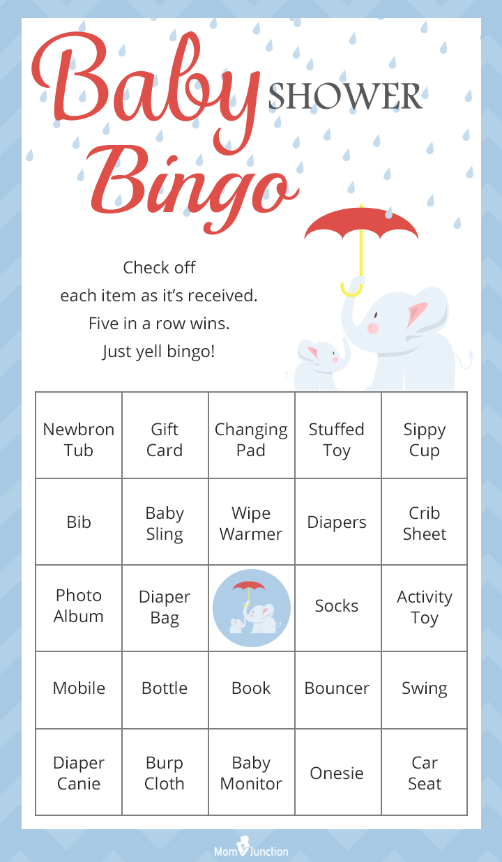 Captivating Printable Baby Shower Bingo Game For Large Groups