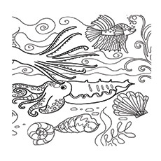Coral Barrier Reef Coloring Pages to Print