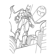 Picture of Batman from Justice League to Color