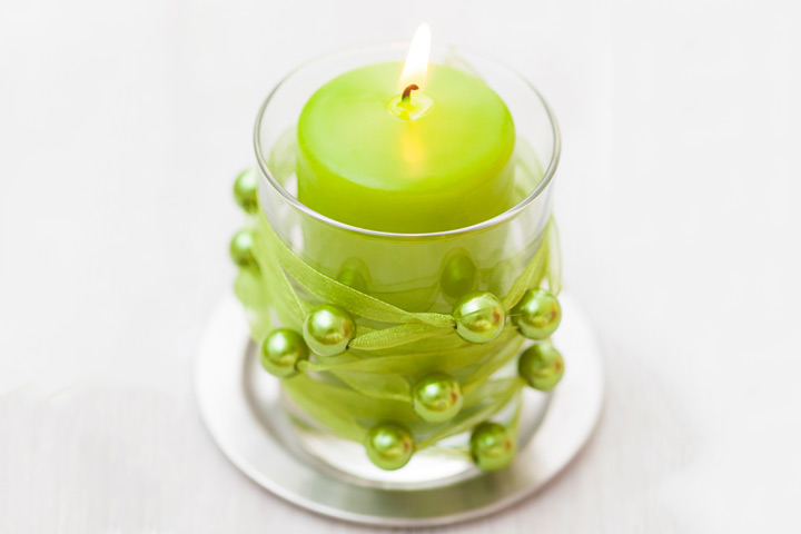 Diwali Craft Ideas - Beaded-Candle-Holder